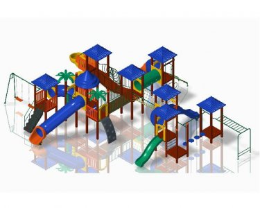 Plastic Wood Ecological Playground - KMP 1101