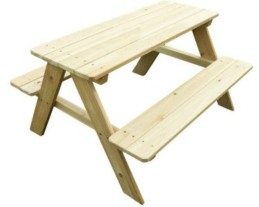 Picnic Bench Outdoor Patio Dining Table for Kids, Natural