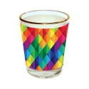 Limitless Hunch Floral Printed Shot Glass ,Chocolate Shot Glass, Mousse Glass-558 Glass (Gold Plated, 40 ml, Multicolor, Pack of 1)