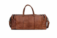 Genuine Leather Square Duffel Bag for Gym, Sports and Travel